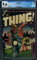 Golden Age (1938-1955):Horror, The Thing! #16 (Charlton, 1954) CGC NM+ 9.6 Cream to off-white pages.
