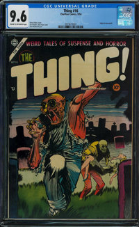 The Thing! #16 (Charlton, 1954) CGC NM+ 9.6 Cream to off-white pages