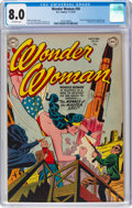 Golden Age (1938-1955):Superhero, Wonder Woman #50 (DC, 1951) CGC VF 8.0 Off-white pages....