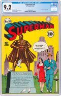 Golden Age (1938-1955):Superhero, Superman #16 (DC, 1942) CGC NM- 9.2 White pages....
