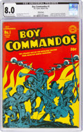 Golden Age (1938-1955):War, Boy Commandos #1 Allentown Pedigree (DC, 1942) CGC VF 8.0 Cream to off-white pages....