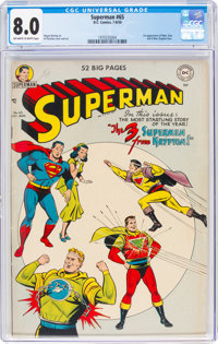 Superman #65 (DC, 1950) CGC VF 8.0 Off-white to white pages