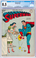 Golden Age (1938-1955):Superhero, Superman #51 (DC, 1948) CGC VF+ 8.5 Off-white to white pages....