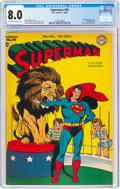 Golden Age (1938-1955):Superhero, Superman #50 (DC, 1948) CGC VF 8.0 Off-white to white pages....