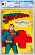 Golden Age (1938-1955):Superhero, Superman #34 (DC, 1945) CGC VF+ 8.5 White pages....