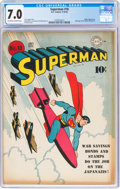 Golden Age (1938-1955):Superhero, Superman #18 (DC, 1942) CGC FN/VF 7.0 Off-white to white pages....