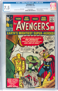 The Avengers #1 (Marvel, 1963) CGC VF- 7.5 Off-white to white pages