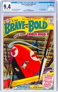 The Brave and the Bold #10 (DC, 1957) CGC NM 9.4 Off-white to white pages