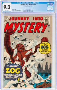 Journey Into Mystery #56 (Marvel, 1960) CGC NM- 9.2 White pages