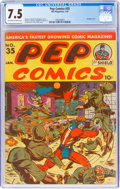 Golden Age (1938-1955):Humor, Pep Comics #35 (MLJ, 1943) CGC VF- 7.5 Off-white to white pages....