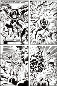 Jack Kirby and Joe Sinnott Fantastic Four #83 Story Page 8 Inhumans Original Art (Marvel, 1969)