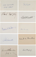 Baseball Collectibles:Others, 1920's-90's Baseball Executives Signed Index Cards Lot of 10....