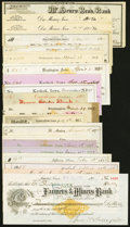 Obsoletes By State:Iowa, A Group of Twenty Iowa Bank Checks ca. 1873-1906 (mostly 1870s) Fine or Better. ... (Total: 20 items)