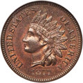 Indian Cents, 1877 1C MS64 Brown NGC....