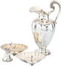 Silver & Vertu, Four Mexican Silver Table Articles. Marks to pitcher: PLATERIA, JGE, MEXICO, (eagle), Eddie's, STERLING, H... (Total: 4 Items)