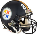 Football Collectibles:Helmets, 1995 Yancey Thigpen Game Worn Pittsburgh Steelers Helmet - Photo Matched to Super Bowl XXX!...