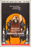 """Movie Posters:Horror, The Premature Burial (American International, 1962). Folded, Very Fine-. One Sheet (27"""" X 41"""") Reynold Brown Artwork. Horror..."""