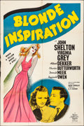 """Movie Posters:Comedy, Blonde Inspiration (MGM, 1941). Folded, Fine/Very Fine. One Sheet (27"""" X 41""""). Comedy.. ..."""