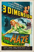 """Movie Posters:Horror, The Maze (Allied Artists, 1953). Folded, Very Fine+. One Sheet (27"""" X 41"""") 3-D Style. Horror.. ..."""