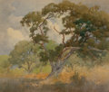 Fine Art - Painting, American:Modern  (1900 1949), Percy Gray (American, 1869-1952). The Old Oak. Watercolor on paper laid on board. 11-3/4 x 14 inches (29.8 x 35.6 cm) (s...