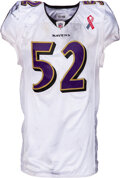 Football Collectibles:Uniforms, 2011 Ray Lewis Game Worn & Unwashed Baltimore Ravens Jersey with 9/11 Memorial Patch - Photo Matched to 9/11 vs. Steelers!...
