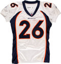 Football Collectibles:Uniforms, 2010 Laurence Maroney Game Worn & Unwashed Denver Broncos Jersey - Used 10/10 vs. Ravens....