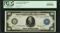 Large Size:Federal Reserve Notes, Fr. 922 $10 1914 Federal Reserve Note PCGS Extremely Fine 45PPQ.. ...