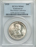 Commemorative Silver, 1925 50C Vancouver MS66 PCGS. Ex. The Poteat Collection. PCGS Population: (393/70). NGC Census: (258/51). MS66. Mintage 14,...
