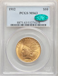 Indian Eagles: , 1912 $10 MS63 PCGS. CAC. PCGS Population: (1226/370). NGC Census: (1040/339). MS63. Mintage 405,083. ...