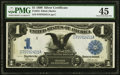 Large Size:Silver Certificates, Fr. 234 $1 1899 Silver Certificate PMG Choice Extremely Fine 45.. ...