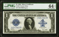 Large Size:Silver Certificates, Fr. 238 $1 1923 Silver Certificate PMG Choice Uncirculated 64 EPQ.. ...