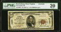 National Bank Notes:West Virginia, Rowlesburg, WV - $5 1929 Ty. 1 The Peoples National Bank Ch. # 10250 PMG Very Fine 20.. ...