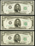 Fr. 1963-B (2); B* $5 1950B Federal Reserve Notes. Crisp Uncirculated or Better