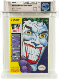 Batman: Return of the Joker [Oval SOQ TM] Wata 9.2 A NES Sunsoft 1991 USA