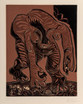 Prints:Contemporary, Pablo Picasso (1881-1973). Femme nue cueillant des fleurs, 1962. Linocut in colors on Arches paper, final state. 13-3/4 ...