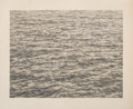 Fine Art - Work on Paper:Print, Vija Celmins (b. 1938). Ocean, from Untitled Portfolio, 1975. Lithograph in colors on Twinrocker Handmade Rag paper...