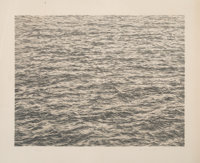 Vija Celmins (b. 1938) Ocean, from Untitled Portfolio, 1975 Lithograph in colors on Twinr
