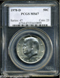 Kennedy Half Dollars: , 1978-D 50C MS67 PCGS. ...