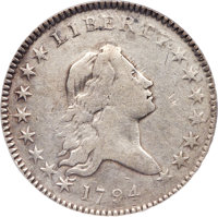1794 50C O-104, T-11, R.5 -- Reverse Scratched, Improperly Cleaned -- NCS. VF Details....(PCGS# 39204)