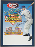 Autographs:Others, Mickey Mantle Signed A&W Root Beer/Cream Soda Advertisement Display....