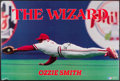 Autographs:Photos, Ozzie Smith Signed Display Lot of 2....