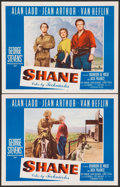 """Movie Posters:Western, Shane (Paramount, 1953). Very Fine/Near Mint. Lobby Cards (2) (11"""" X 14""""). Western.. ... (Total: 2 Items)"""