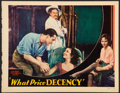 "Movie Posters:Exploitation, What Price Decency (Majestic, 1933). Fine+. Trimmed Lobby Card (10.75"" X 13.75""). Exploitation.. ..."