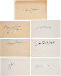 Baseball Collectibles:Others, 1950's-80's New York Yankees Greats Signed Autographs Lot of 7.... (Total: 7 items)