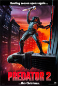 """Movie Posters:Science Fiction, Predator 2 (20th Century Fox, 1990). Folded, Very Fine/Near Mint. One Sheet (27"""" X 40"""") DS Advance, Christmas Style. Science..."""