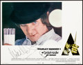 """Movie Posters:Science Fiction, A Clockwork Orange (Warner Brothers, 1971). Very Fine/Near Mint. Autographed Lobby Card (11"""" X 14""""). Philip Castle Ar..."""