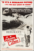 """Movie Posters:Foreign, A Lesson in Love & Other Lot (Janus Films, 1960). Folded, Fine+. One Sheets (2) (27"""" X 41""""). Foreign.. ... (Total: 2 Items)"""