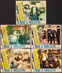 """If I Had a Million (Paramount, 1932). Overall: Fine. Lobby Cards (5) (11"""" X 14""""). Comedy. From the Collection..."""