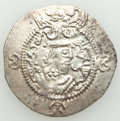 Ancients:Oriental, Ancients: TOKHARISTAN. Yabghus of Bactria. Ca. AD 6th-7th century. AR drachm (31mm, 3.87 gm, 4h). XF....