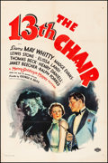 "Movie Posters:Mystery, The 13th Chair (MGM, 1937). Very Good/Fine on Linen. One Sheet (27.25"" X 41""). Mystery.. ..."